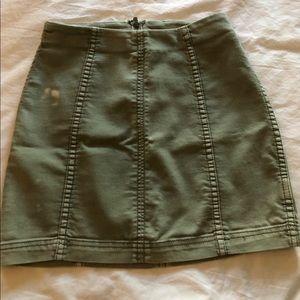 Free people skirt size 0 . Bleach spots on it